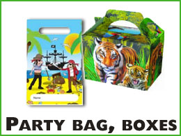 Party bags and food boxes