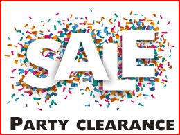 Party clearance sale