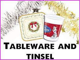 Tableware and tinsel