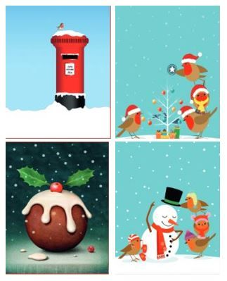 PERSONALISED CHRISTMAS TOWN CARDS - 144 CARDS WITH YOUR CHOSEN  NAME