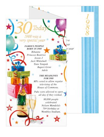 Simon elvin special year birthday cards age 30 age cards wgc simon elvin special year birthday cards age 30 m4hsunfo