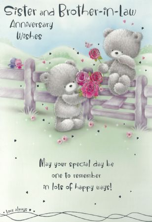 Sister Wedding Anniversary Wishes Cards