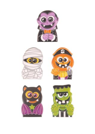 Card of 5 Halloween finger puppets