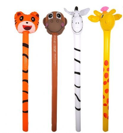 Single inflatable jungle stick