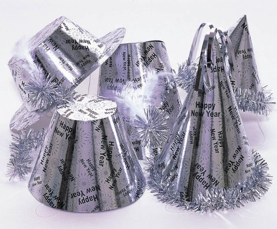 Box of 50 New Years Eve party hats