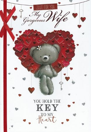 Single boxed large Simon Elvin Valentine cards wife from Andersons