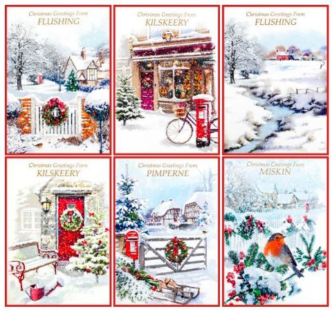 SIMON ELVIN TOWN CARDS - 144 CARDS WITH YOUR CHOSEN  NAME