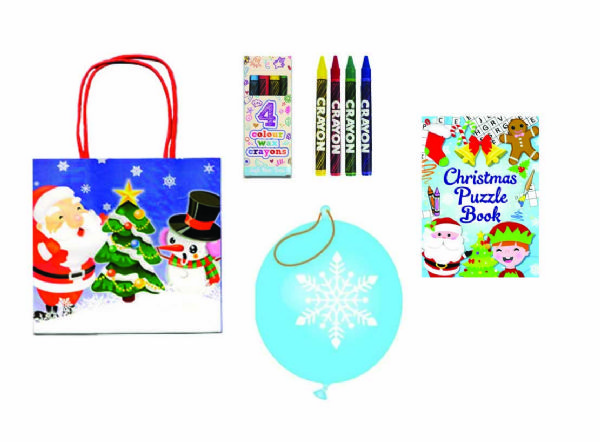 Christmas filled paper bag SELECTION A