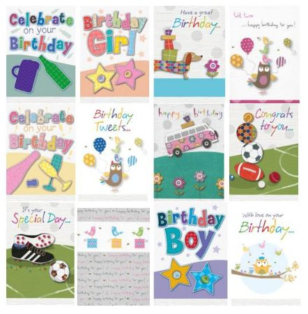 72 Bon Open Birthday Cards