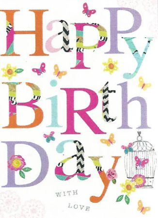 Carson Higham Open Female Birthday Cards Open Birthday And Belated