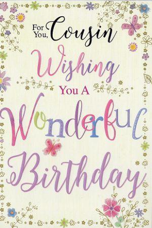 Simon elvin birthday cards cousin female relations and friends simon elvin birthday cards cousin m4hsunfo