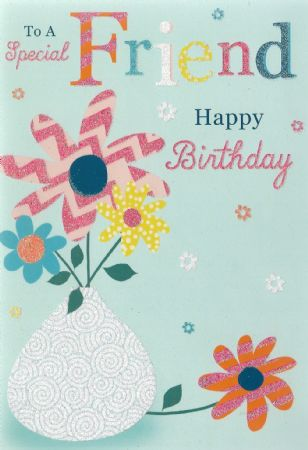 Silverline Birthday Cards Friend Female Relations And Friends