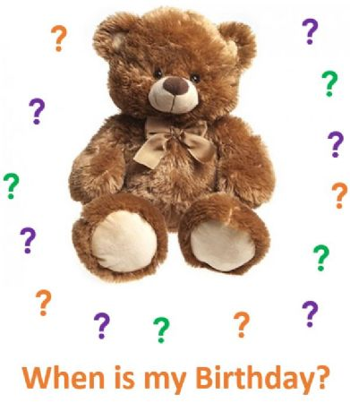 Single guess the bears birthday pack
