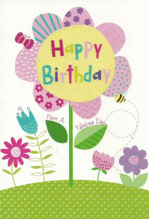 Heartstrings Wholesale Juvenile Female Open Birthday Cards