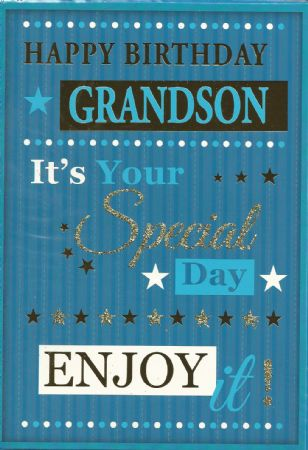 iparty wholesale birthday cards grandson from andersons wholesale, Birthday card