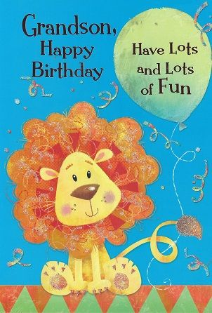 Iparty Cute Birthday Cards Grandson Male Relations And Friends