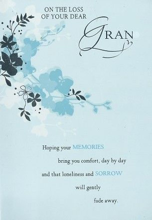 Iparty sympathy cards loss of your gran sympathy thinking of you iparty sympathy cards loss of your gran altavistaventures Images