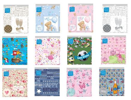 48 packs of Giftmaker folded wrap with matching card