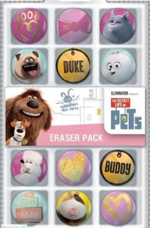 Pack 12 Pets Life  erasers