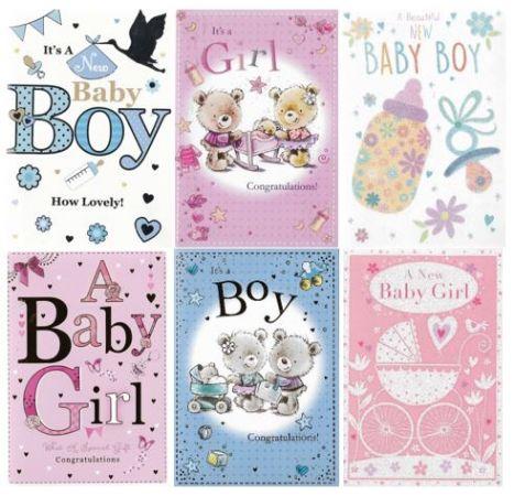 silverline flatbox birth congratulations cards starter packs flat