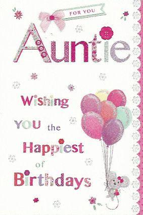 Simon elvin greetings auntie birthday cards female relations and simon elvin greetings auntie birthday cards m4hsunfo