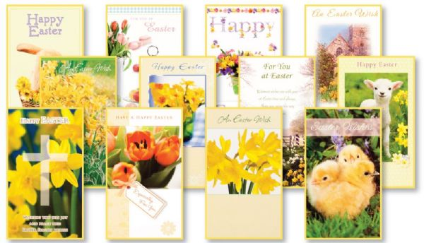 Simon Elvin box of 144 assorted open Easter cards from Andersons – Boxed Easter Cards