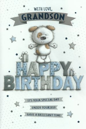 Simon Elvin Large Cute Birthday Cards Grandson Male Relations And