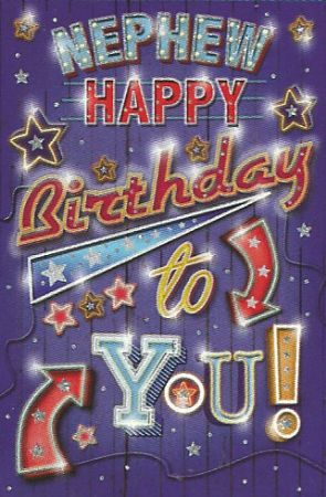 Simon Elvin Greetings Large Nephew Birthday Cards