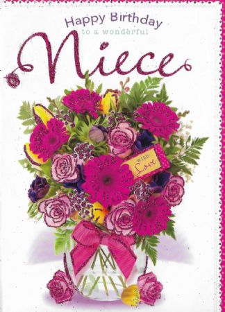 Design Studio Birthday Cards Niece Female Relations And Friends