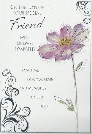 iparty sympathy cards loss of your friend from andersons wholesale wgc x90j loss of friend