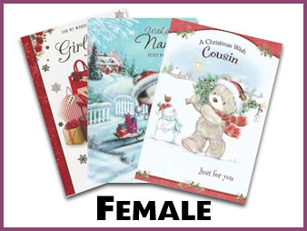 Female Christmas cards