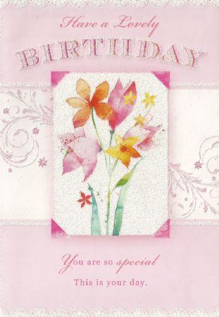 Silverline Open Female Birthday Cards Wgc Fb005aa Open Birthday