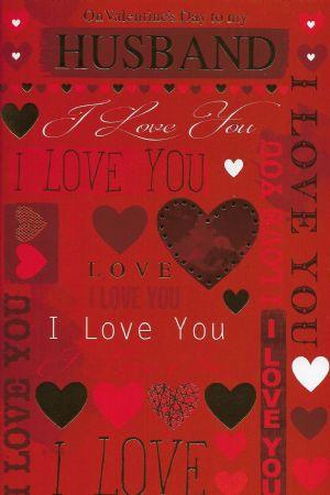 Simon Elvin Large Valentine Cards Husband Wgcv Xse25878 Husband