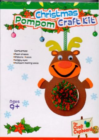 Christmas Gifts For Girls Age 9.Wrapped Christmas Pom Pom Craft Set Age 9 Girl Wgt 3231c