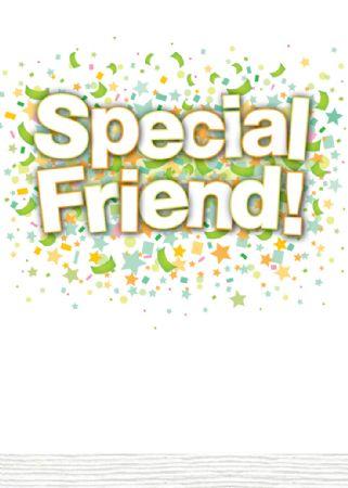 Bon Confetti Birthday Cards Special Friend