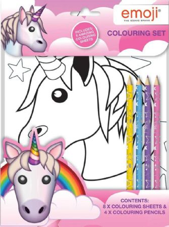 wrapped emoji unicorn colouring set girl 3 5