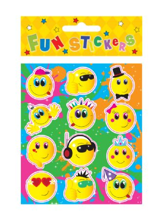 Display Box Of 120 Packs Of Smiley Stickers Pbt N51065