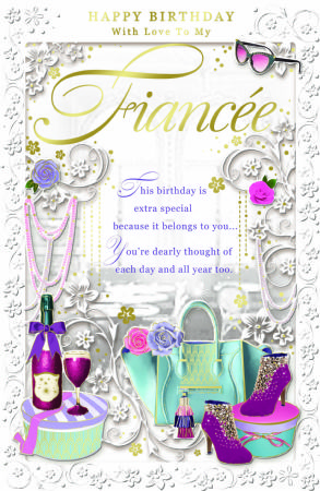 Large Fiancee Birthday Cards Clearance Price Wgc Op12500311