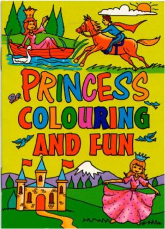 Pack of 36 Princess A6 colouring books | PBT A6CBPRIN | Books and ...