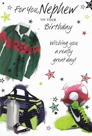 Simon Elvin Birthday Cards Nephew Wgc Se25551 Male Relations And