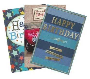 144 Open Male Birthday Cards