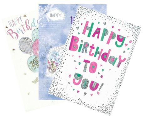 144 Mixed Open Birthday Cards