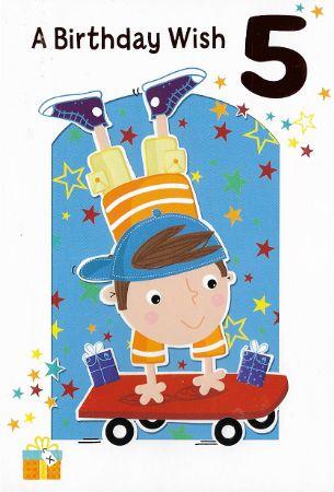 Simon Elvin Birthday Cards Age 5