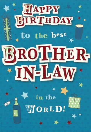 Design Studio Birthday Cards Brother In Law