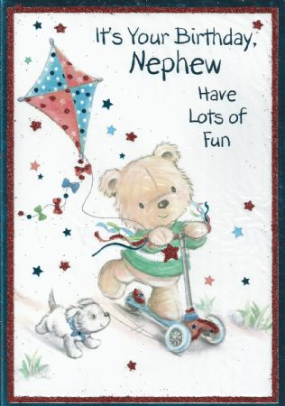 Iparty Birthday Cards Nephew Wgc X91d1190 Male Relations And Friends