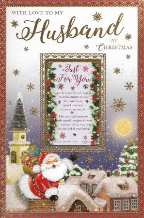 Husband Christmas Cards Uk.Large Keepsake Treasures Husband Wgcx Xkt75010b 12 Male