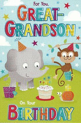 Simon Elvin Greetings Birthday Cards Great Grandson Wgc 50mr112