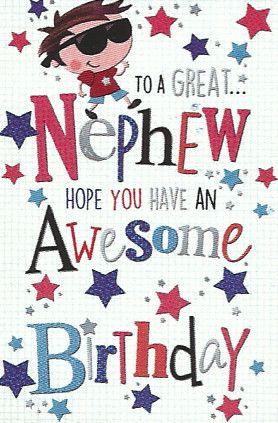 Simon Elvin Greetings Birthday Cards Nephew Wgc 50mr113 The