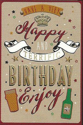 Simon Elvin Greetings Open Male Birthday Cards Wgc 50gb140 Open