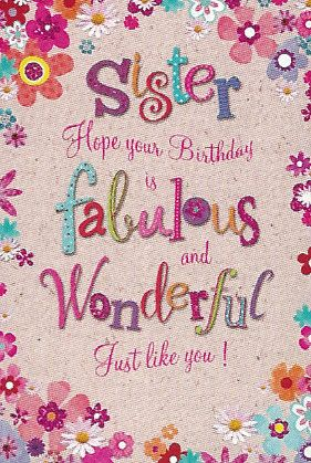 Simon Elvin Greetings Birthday Cards Sister